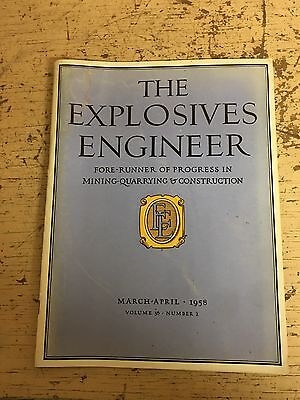 March 1958 Explosives Engineer Magazine Construction Niagra Power Project