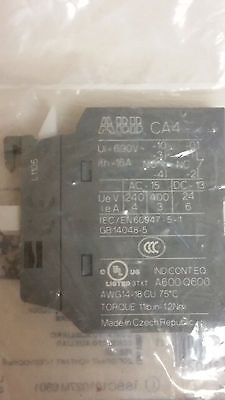 ABB CA4-01 Front Mount Auxiliary Contact Block (1NC) AF09-AF38 *NEW*