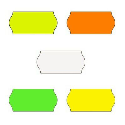 Price Tag Gun Labels CT4 26mm x 12mm Price Labels Permanent - Various Colours