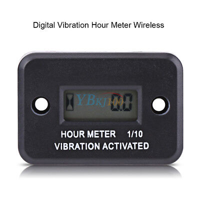 Motorcycle Tach Vibration Activated Hour Meter Wireless For ATV Gas Engine TP