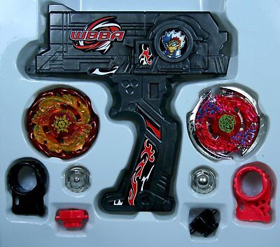 Beyblade Fusion Top Metal Master Fight Rare Gyro 4D Launcher Grip Toy Set(Black)
