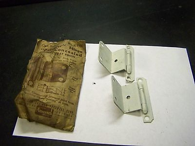 "NOS Vintage Amerock Primer-Paint Over-Paintable 3/4"" Flush Mount Cabinet Hinges"