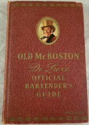 Antique Mr Boston Deluxe Official Bartender's Guide Drinks 5th Printing 1941 HC