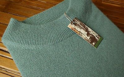 NEW TIMBERLAND Crewneck Pullover Sweater MEN'S Wool Cashmere Blend LARGE L Blue