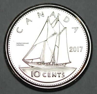 Canada 2017 BU Classic UNC 10 cent Canadian Dime from mint roll