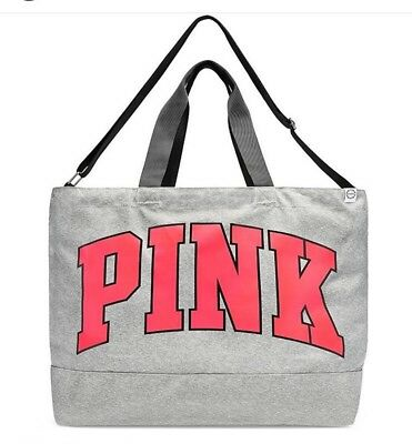 NWT Victoria's Secret PINK Weekender Tote Bag Grey Marl 2017