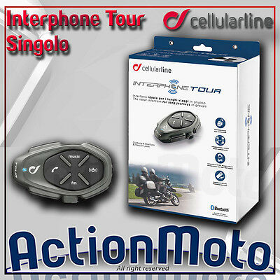Cellular Line Interphone Tour Single Intercom Motorcycle Scooter Bluetooth