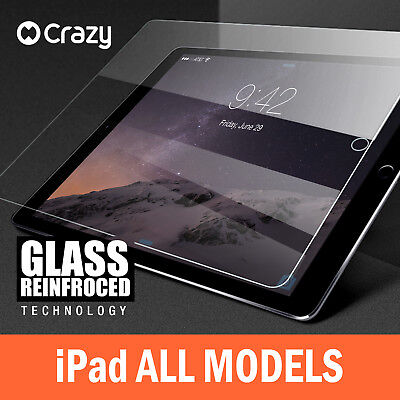 Crazy Tempered Glass Screen Protector for iPad 5 4 3 2 Air 1 Mini Pro 9.7 12.9