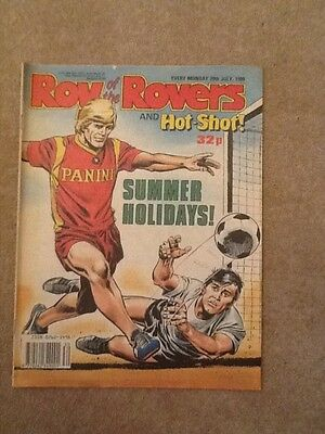 ROY OF THE ROVERS & HOT-SHOT! - Year 1989 - Date 29/07/1989 - UK Paper Comic