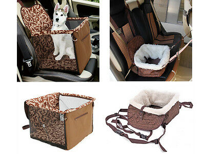 Folding Travel Bed/Seat Car Carrier With Safety Belt for Dog/Puppy/Cat
