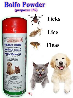 Bolfo Anti Tick,Flea and Lice Powder For Dogs and Cats Insect Killer Talc