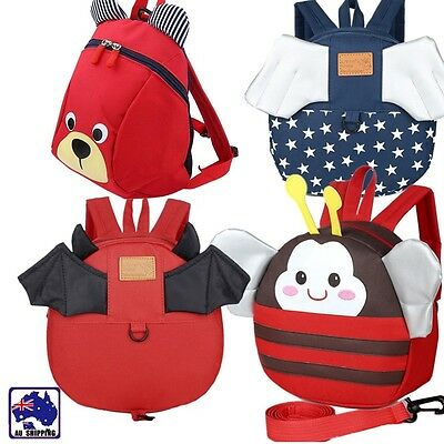 Baby Keeper Toddler Walking Safety Harness Backpack Bag Bee Bat Bear SBBA594