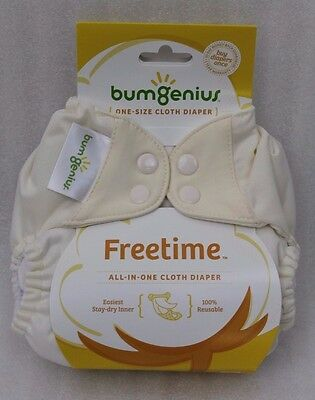 Bumgenius Freetime Stoffwindel all-in-one 4-16 kg wollweiß