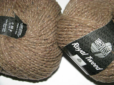 Wolle Kreativ! Lana Grossa - Royal Tweed - Fb. 64 camel meliert 50 g