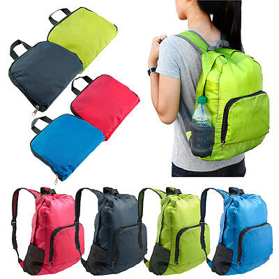 Adults Outdoor Sports Waterproof Foldable Backpack Hiking Bag Camping Rucksack