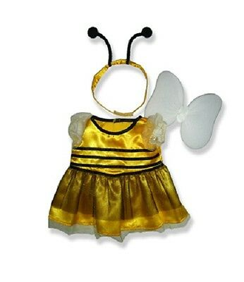 """Bumble buzzy bee Costume & wings outfit teddy bear clothes fits 15"""" Build a Bear"""