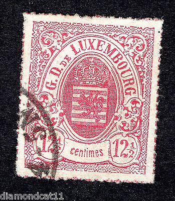 1874 Luxembourg 12.5 Red SG 61 FINE USED R23413
