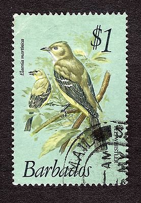 1979 Barbados $1 Caribbean elaenia SG635 GOOD USED R31171