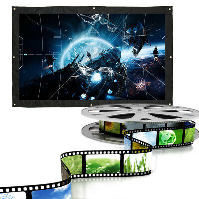 60-200'' 16:9 Portable Projection Screen Screen Rear LCD Monitor HD Home Theater