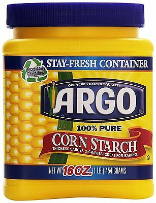 Argo 100% Pure Corn Starch 16 oz container