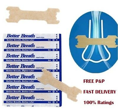 NEW NOSE / NASAL STRIPS - for easier breathing  **Natural Way To Stop Snoring**