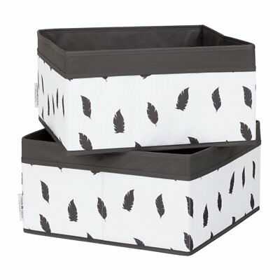 South Shore Storit Polyester Basket in White and Gray (Set of 2)