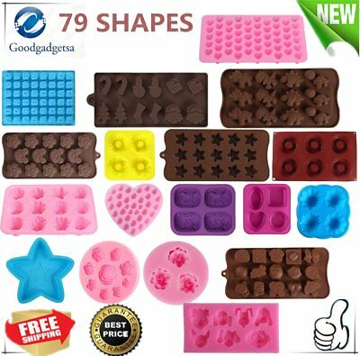 79 Shapes Silicone Cake Decorating Moulds Candy Cookies Chocolate Baking Mold AU