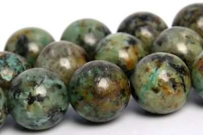 12MM Genuine Natural African Turquoise Beads Grade AAA Round Loose Beads 15""