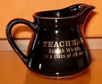 Little Black TEACHER'S Scotch Whisky Ceramic Water Jug / Jar - Scotland