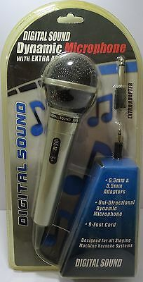 Dynamic Microphone Mic Wired Handheld 6.3mm & 3.5mm Jack with 9ft Cable **NEW**