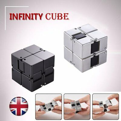 Mini Infinity Cube Stress Relief Fidget Anti Anxiety EDC ADD Magic Puzzle Toy UK