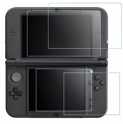 Screen Protector for Nintendo NEW 3DS XL AFUNTA 4 Pcs Tempered Glass for Top NEW