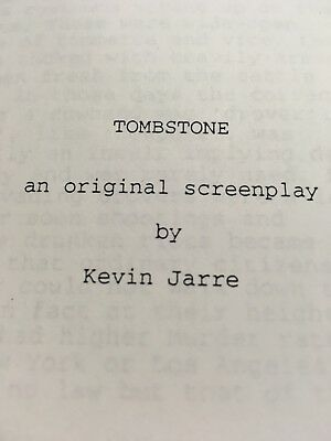 Original TOMBSTONE second draft, Nov. 5th 1992. Found in Famous estate