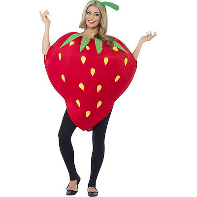 Adult Strawberry Funny Fruit Food Party Fancy Dress Costume Outfit 43406