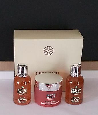 Molton Brown  Gingerlily Body Wash and Heavenly Gingerlily Body Polish Box Set