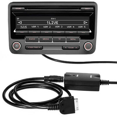 vw radio bluetooth aux adapter 12pol quadlock mp3 rcd 200. Black Bedroom Furniture Sets. Home Design Ideas