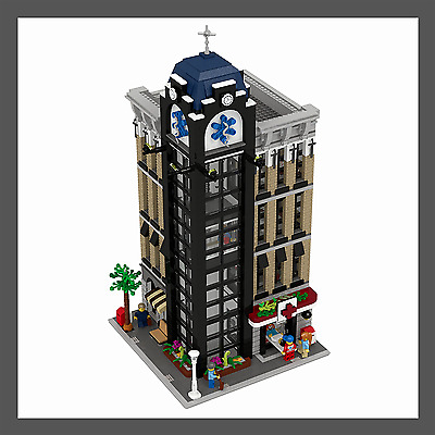 LEGO Custom Modular Hospital - INSTRUCTIONS ONLY!