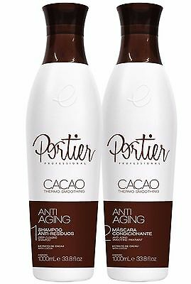 Brazilian Keratin Portier Cacao Straightening System set 2x1000ml 33,81 OZ
