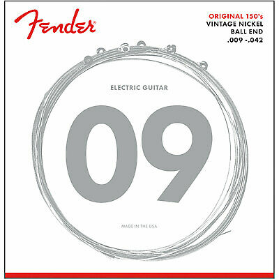 New Fender 150L Pure Nickel Ball End Electric Guitar Strings, Light 9-42