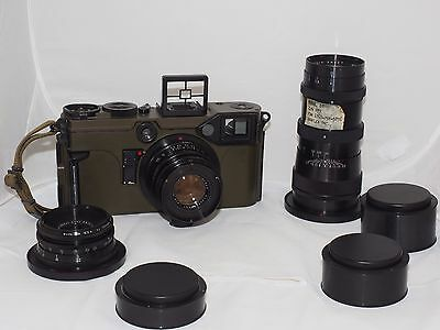Graflex 70mm US Army Combat-70 Graphic KE-4 complete 3 lens camera outfit. Mint