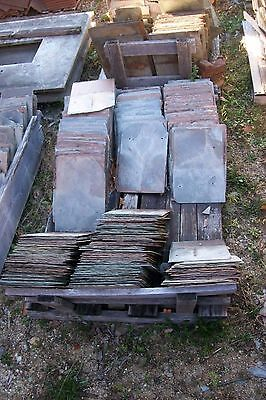 "Lot of 4 Antique Vintage New England Large 12"" x 18"" Kraft Slate Tiles Shingles"