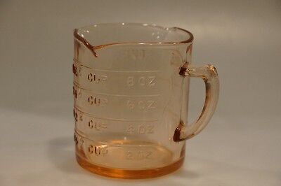 Pink Depression Glass Measuring Cup, Kelloggs