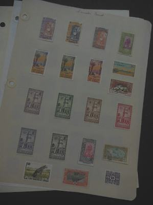 EDW1949SELL : SOMALI COAST Interesting Mint & Used collection on Homemade pages.