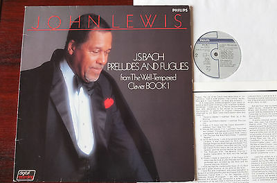 Philips 824 381-1 Bach Preludes & Fugues Piano Lp Lewis Nm Dig Japan Tempered