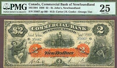Nice Bright Commercial Bank of Newfoundland, $2, 1888!