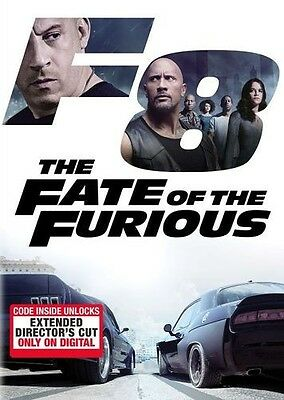 THE FATE OF THE FURIOUS DVD 2017 comes w/ outer Slipcover Free Shipping