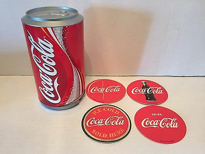 Coca-Cola Coasters in a Can with Vintage Style Double Sided Coasters