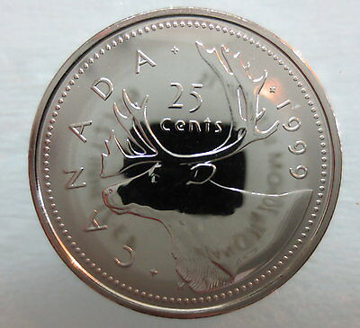 1999 Canada 25 Cents Proof-Like Quarter Coin
