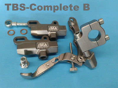 IMA motorcycle thumb brake complete kit incl 2 x master cylinder - Bar mount
