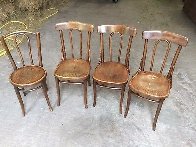 Four Vintage Bistro / Cafe Style Chairs - Three Matching & One Odd One